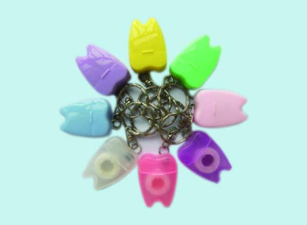 牙齿形钥匙扣牙线 可印LOGO